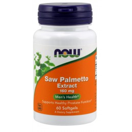 NOW FOODS Saw Palmetto Extract 160mg, 60sgels.