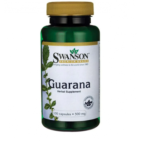 GUARANA 500 mg, 100 kaps - SWANSON